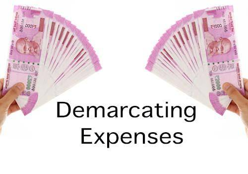 Demarcating expenses