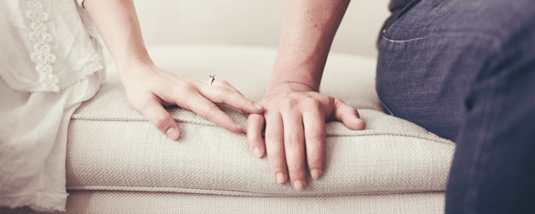 Hands on Sofa
