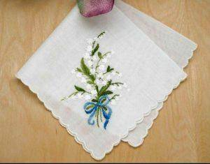 Embroidered hankerchief