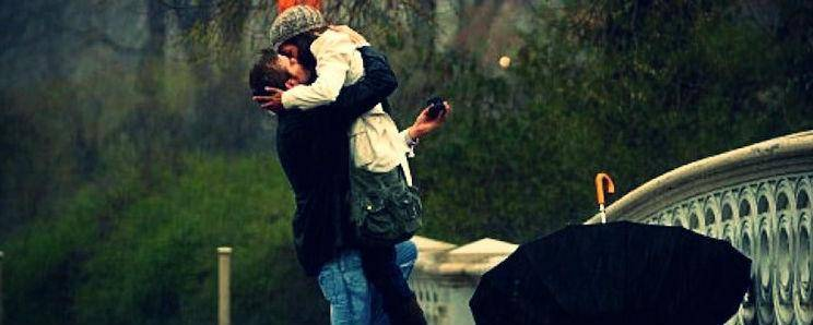 How to propose on a romantic rainy day