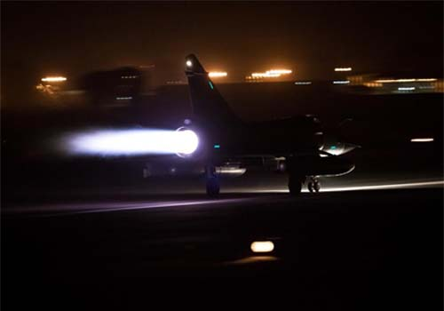 Indian jet fighters at night
