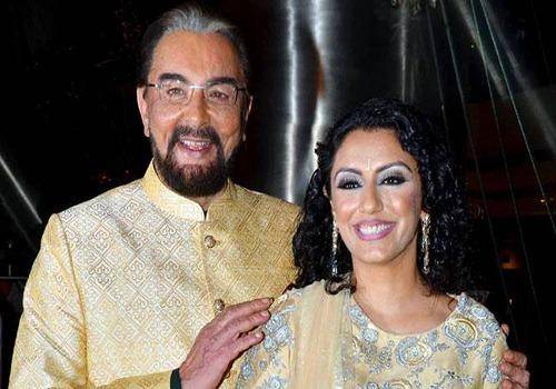 Kabir bedi with his wife