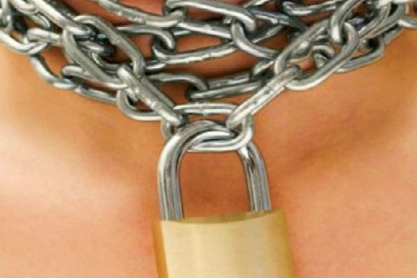 Lady Locked in Chain