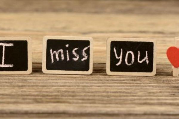 Miss You on Wooden Board