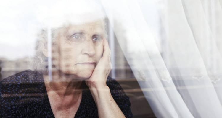 Old Lady in Depression