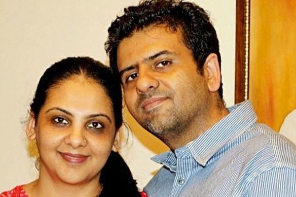 Pallavi with her husband