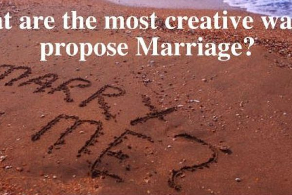 What are the most creative ways to propose marriage contest