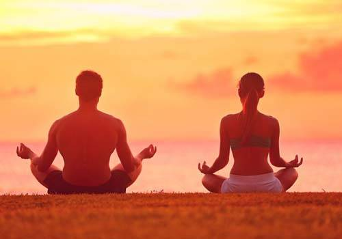 Couple doing Vipassana meditation can help to make a marriage better