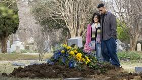 couple at grave