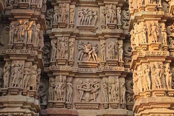 Khajuraho Temple is famous for the sculptures