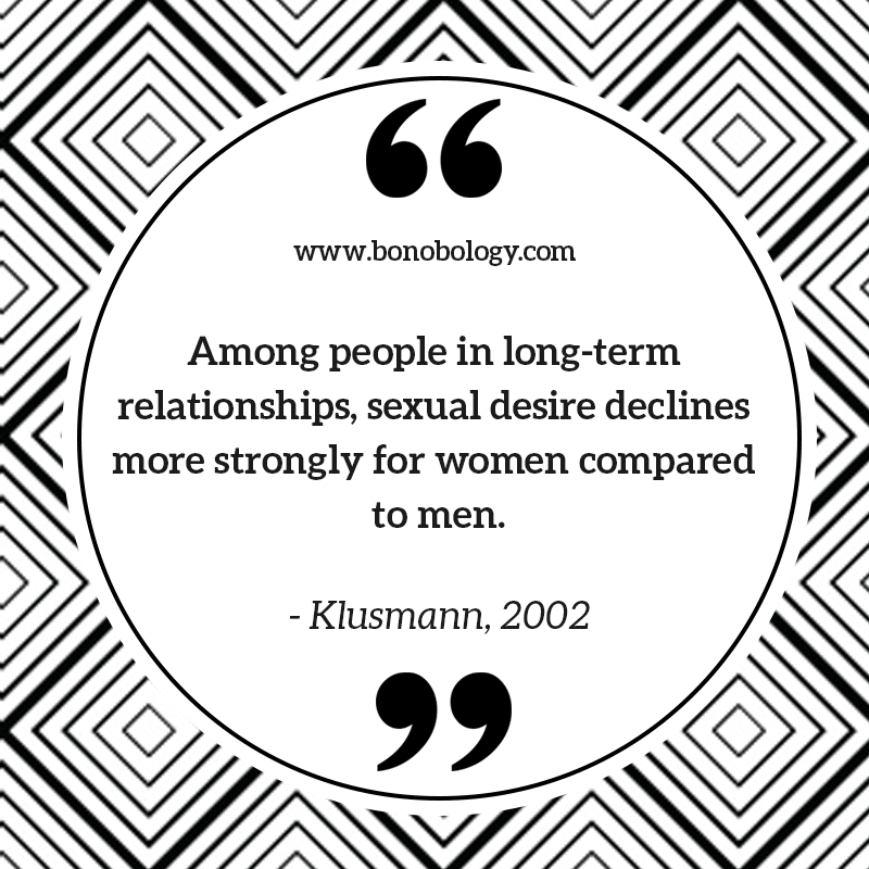 Klusmann on long distance relationships and decline in sexual desire
