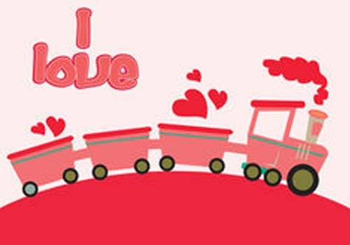 love with train