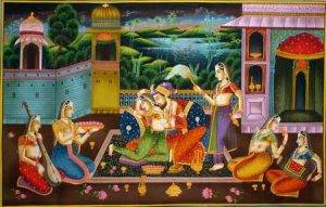mughal love painting