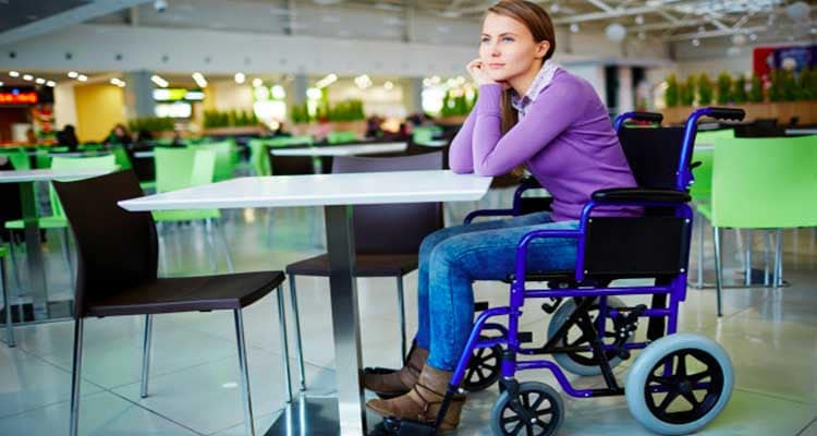 physically disabled woman
