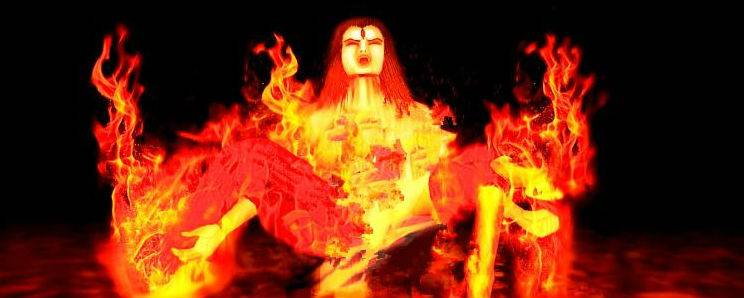 Shiva'srage after Sati;s self immolation destroyed the world