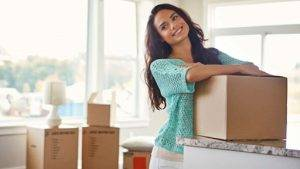 single woman moving