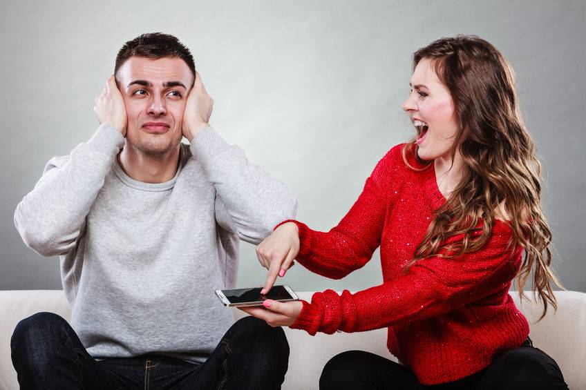 wife confronts husband