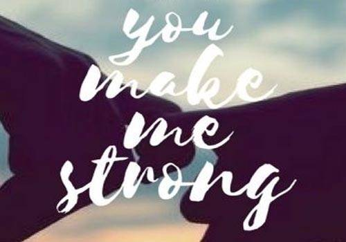 you made me strong