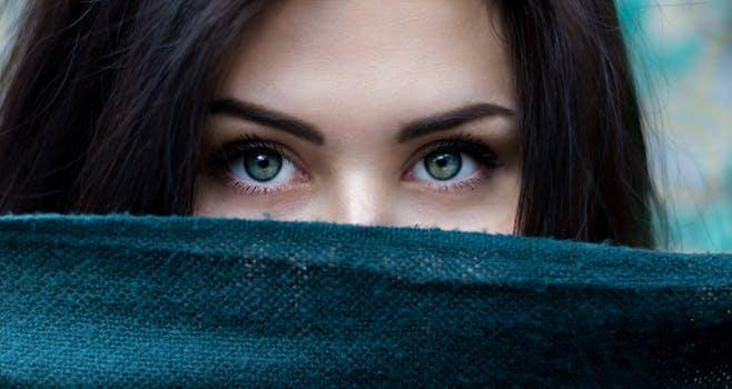 Beautiful eyes of a woman
