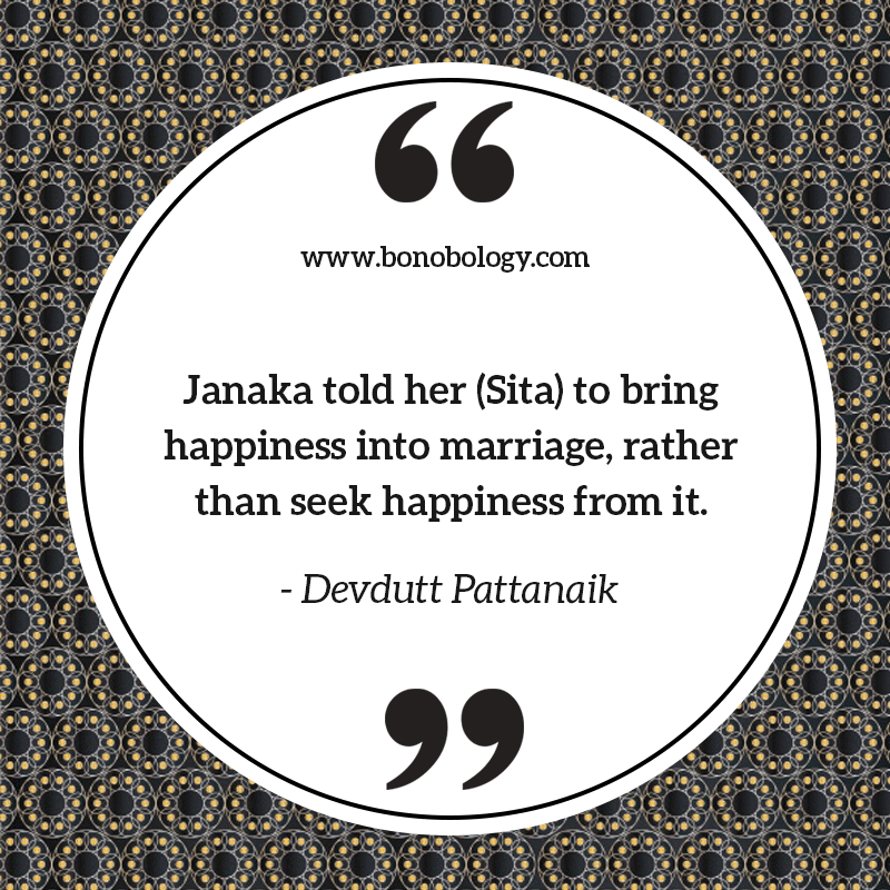 Devdutt Patnaik on marriage, happiness and Ramayan