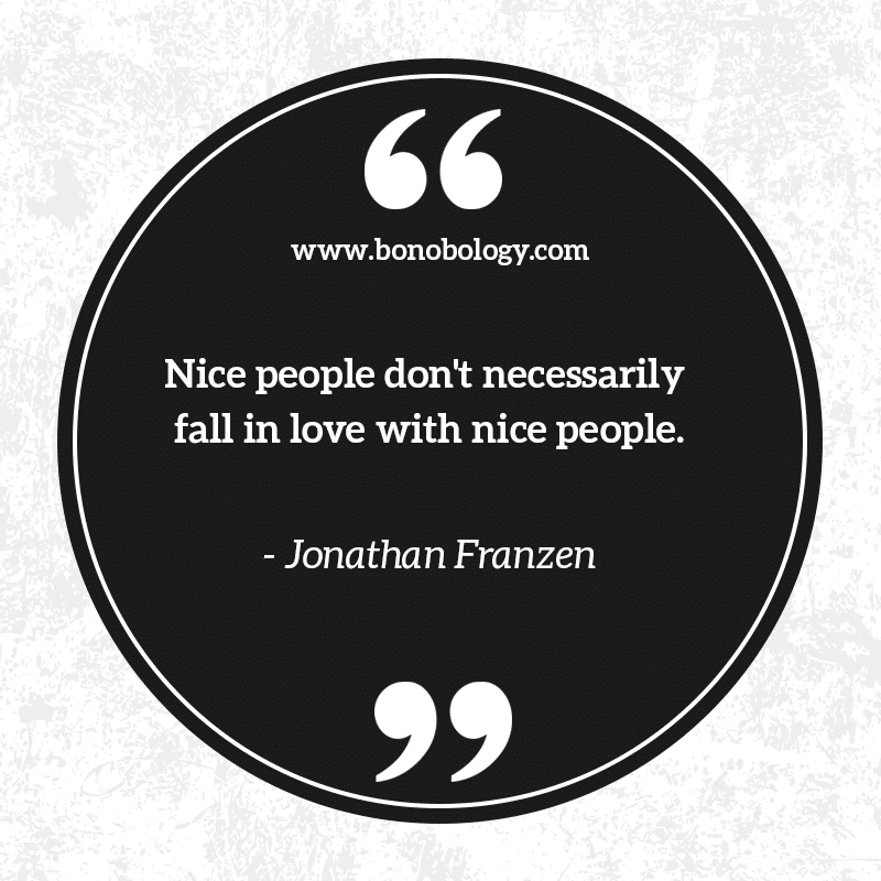 Jonathen Franzen on nice people and love