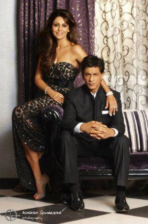 SRK and Gauri at Mannat