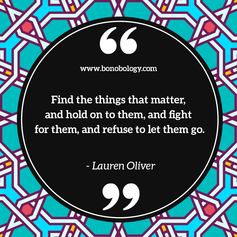 Lauren Oliver on things that matter
