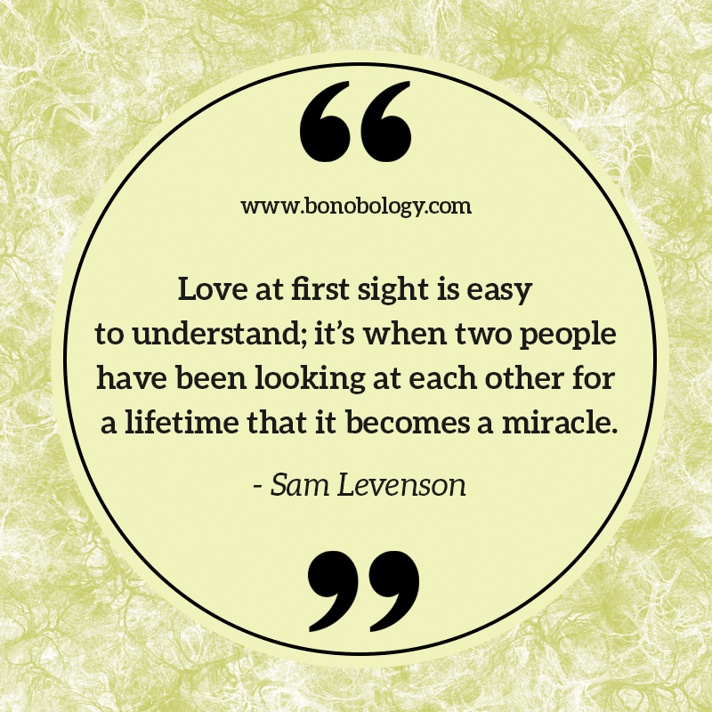 Sam Levenson on love at first sights, lifetimes and miracles