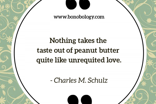 Charles M. Schulz unrequited love and peanut butter