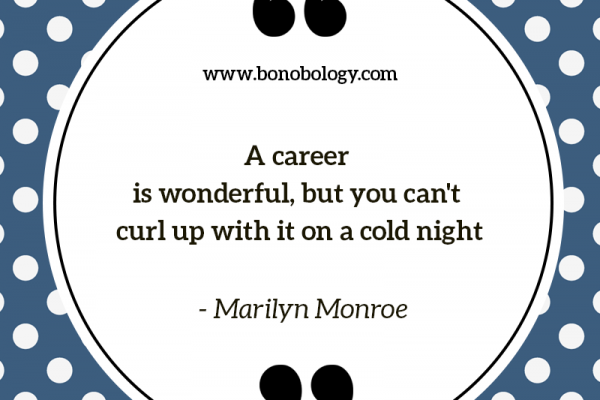 Marylin Monroe on careers, love and cold nights