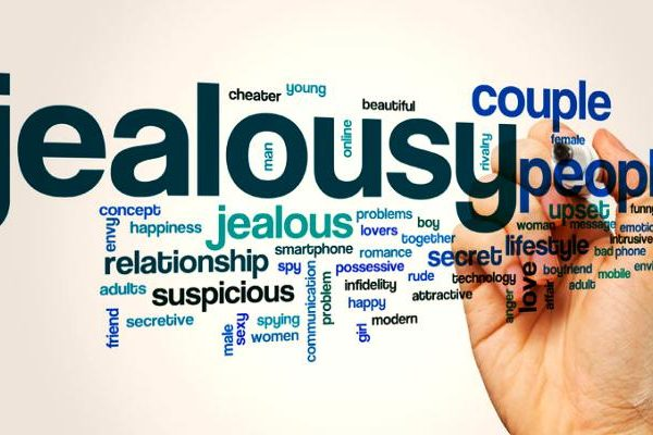 Jealousy word cloud concept