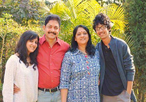 Ramendra with his family