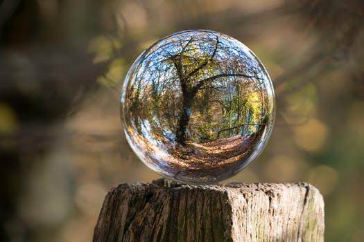 Reflection in glass ball