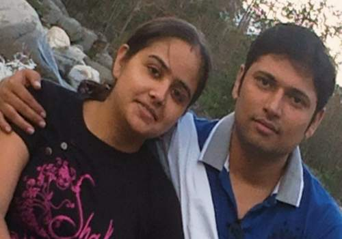 Shipra with her husband