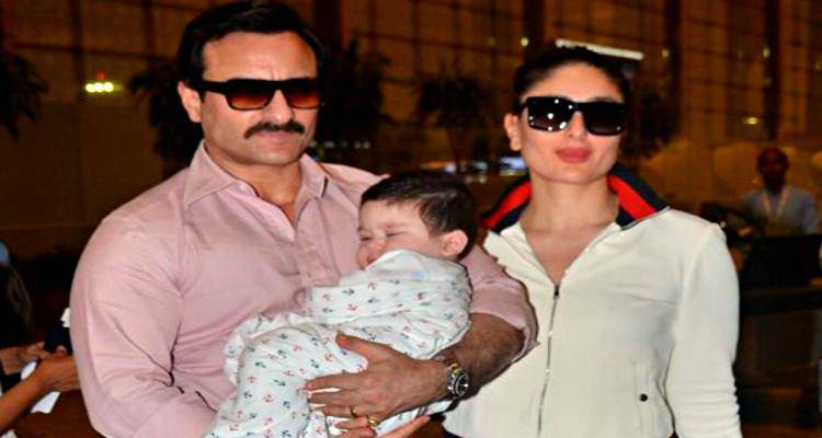 Taimur with Saif and Kareena