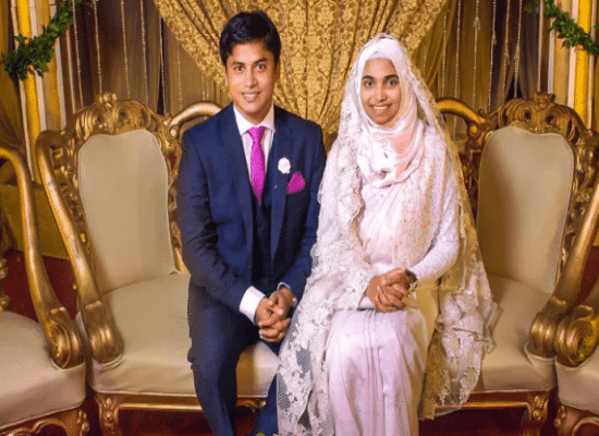 Tasneem with her husband