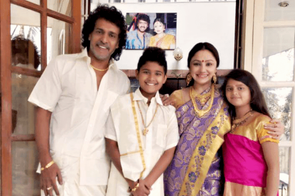 Upendra with his family