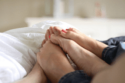 feet touching