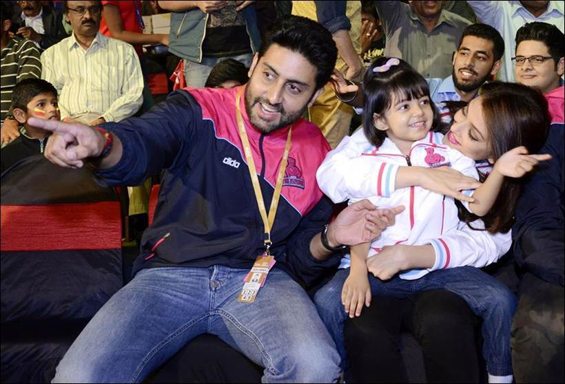 aish with aradhya and abhi