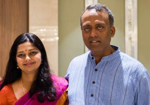 Anandam Ravi with her husband