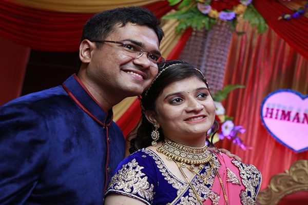 Himanshu with his wife