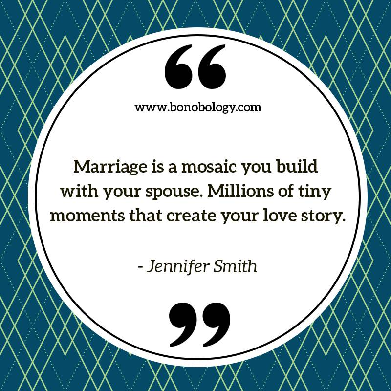 Jennifer Smith on marriage, tiny moments and mosaic