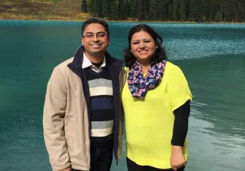 Prerna and Ashwin, Lake Louise in Canada