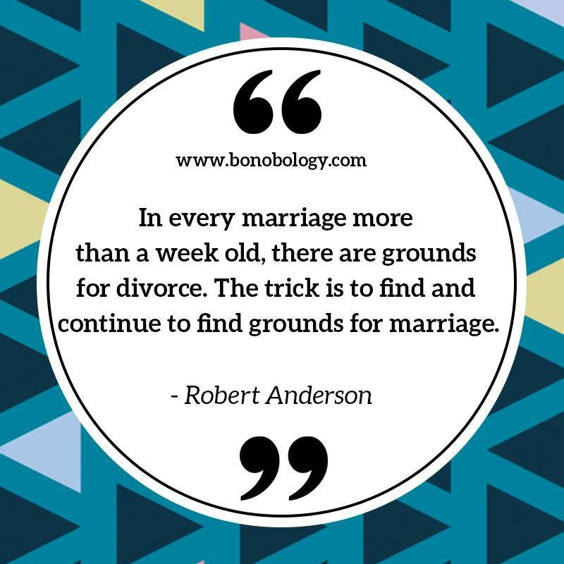 Robert Anderson on marriage and grounds for marriage