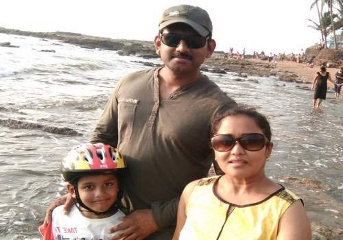 Sahana with her family