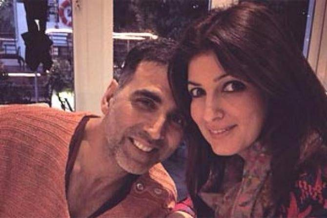 Akshay and twinkle together