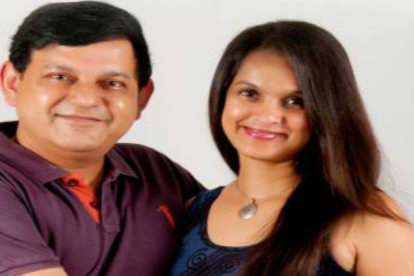 Author Preety Shenoy and her husband