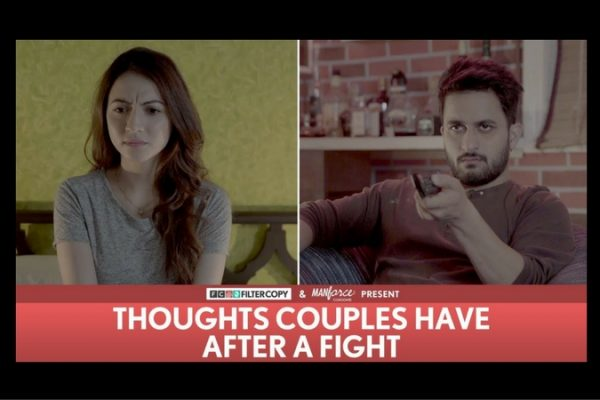 Thoughts of couples have after a fight