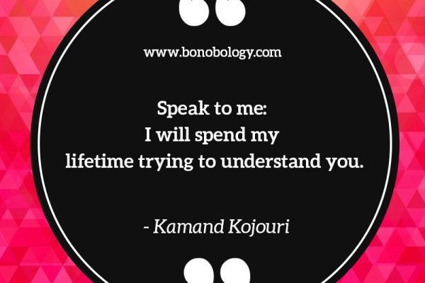 Kamand Kojouri on lifetimes and understandings