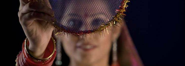 Lady dressed for Karvachauth